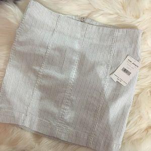 white striped denim skirt - free people